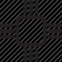 chip, micro, processor icon