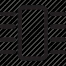 chip, microchip, processor icon