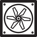 fan, hardware icon