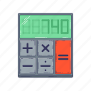 calculator, device, hardware, technique icon