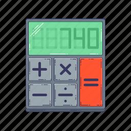 calculator, device, hardware, technique icon