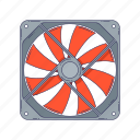 cooler, device, fan, hardware, technique, ventilator icon