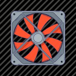 cooler, device, fan, hardware, technique, ventilator icon