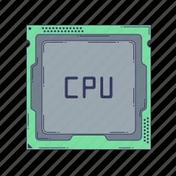 computer, cpu, device, hardware, processor, technique icon