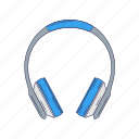 device, hardware, headphones, technique icon