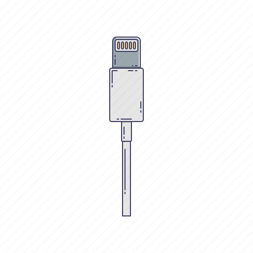cable, device, hardware, lightning, technique icon