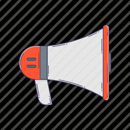 device, hardware, megaphone, sound, technique icon