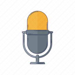 device, hardware, microphone, sound, technique icon
