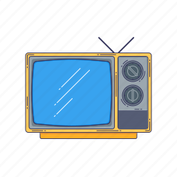 device, hardware, old, technique, tv icon