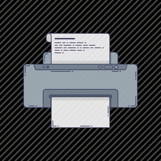 device, hardware, paper, printer, technique icon