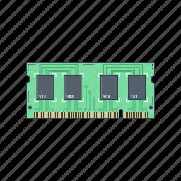 computer, device, hardware, memory, ram, technique icon