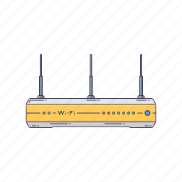 device, hardware, internet, router, technique icon
