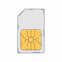 card, device, hardware, sim, technique icon