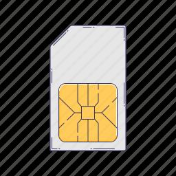 card, device, hardware, sim, technique icon
