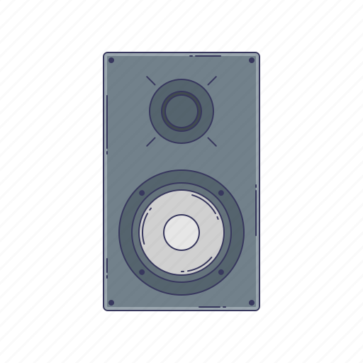 device, hardware, sound, speaker, technique icon