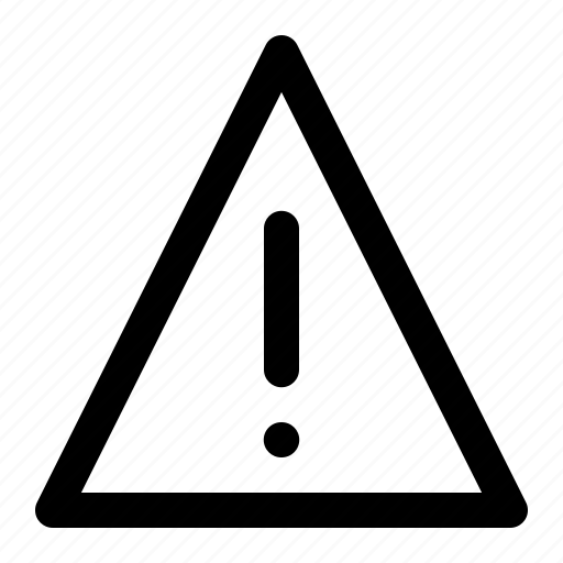 alert, denger, triangle, warning icon