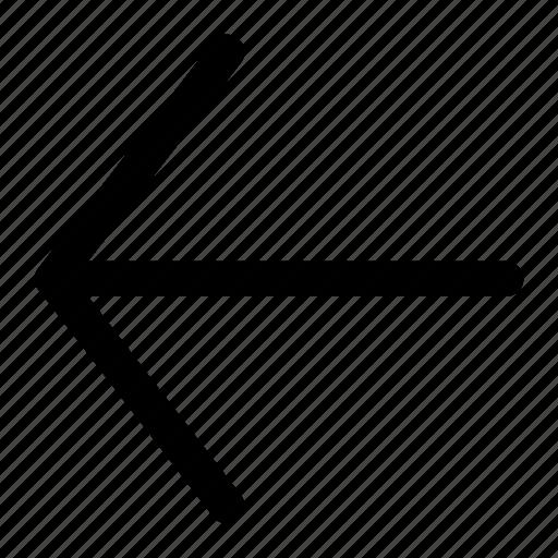 arrow, arrow left, left, point left icon