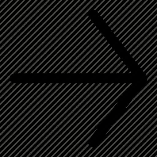 arrow, arrow right, point right, right icon