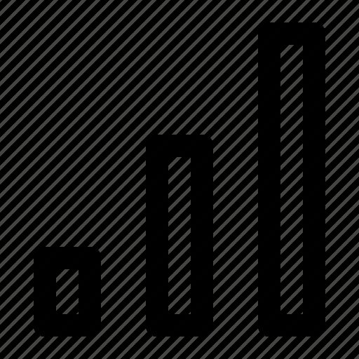 bar, bar chart, chart, commerce icon