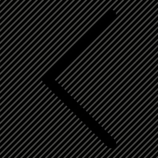 chevron, left, point, point left icon