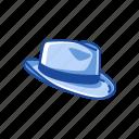 cap, fedora, fedora hat, hat, hipster hat, mafia hat icon