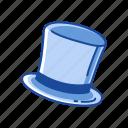 beaver hat, cap, chimney hat, cylinder hat, hat, magician hat, top hat icon