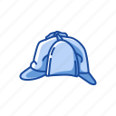 cap, detective hat, fashion, hat, pld man hat, visor icon