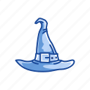 cap, conical hat, dunce cap, halloween hat, hat, witch hat, wizard hat icon