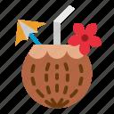coconut, food, restaurant, tropical, water