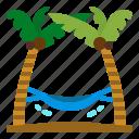 hammock, hawaii, sea, travel, tree
