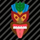 cultures, hawaii, mask, tiki, tropical