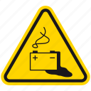 acid, battery, corrosive, danger, death, hazard, warning icon