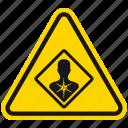 cancer, carcinogen, danger, hazard, health, medicine, warning icon