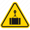 box, crane, danger, delivery, hazard, transport, warning