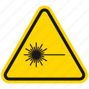 blindness, danger, death, hazard, laser, warning, weapon icon