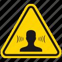 attention, bang, danger, ears, hazard, noise, warning icon