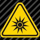 optical radiation, hazard, danger, radiation, chemistry, atomic, warning