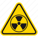 hazard, danger, radiation, warning, toxic, radioactive, nuclear