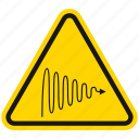 attention, connection, danger, hazard, magnetic waves, warning, wave