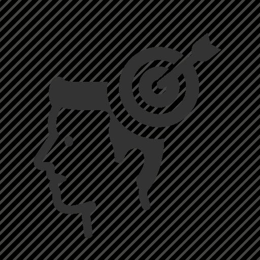 aim, arrow, avatar, bullseye, business, goal icon