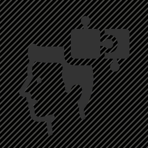 avatar, creativity, head, idea, manage, production icon