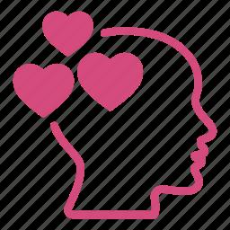 head, hearts, like, love, loving, romantic icon