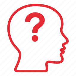 bald, creative, doubt, mark, person, question icon