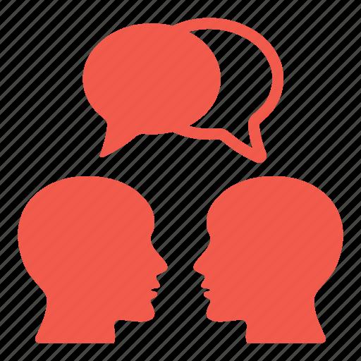 bald, education, heads, males, social, speech bubble, talking icon