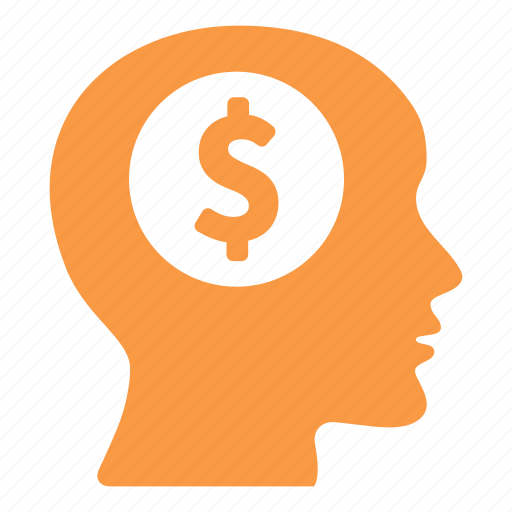 bank, business, coins, creative, dollar, head, money icon