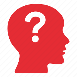 bald, creative, doubt, mark, people, person, question icon