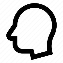 empty, figure, head, man, profile, shape icon