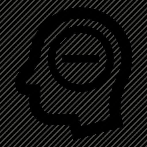 delete user, head, minus, profile, remove user icon