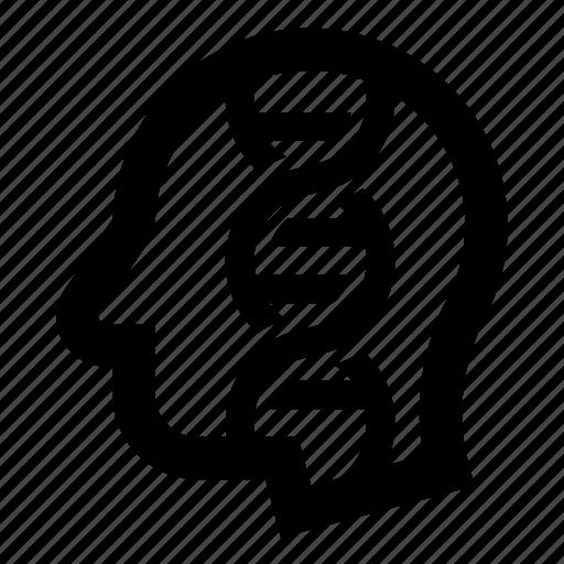 dna, head, science, scientist, user icon