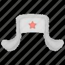 hat, headdress, headwear, russia, star, ushanka icon